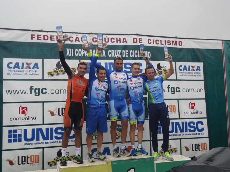 Ciclismo do Avaí, podium em RS