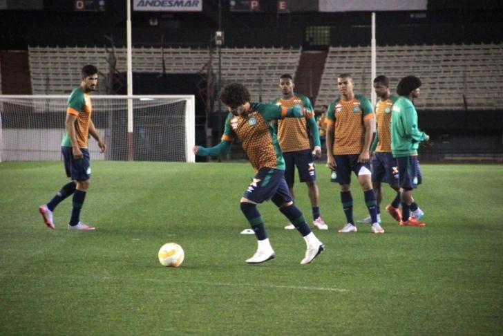 Chapecoense treina no Monumental antes de partida contra o River Plate