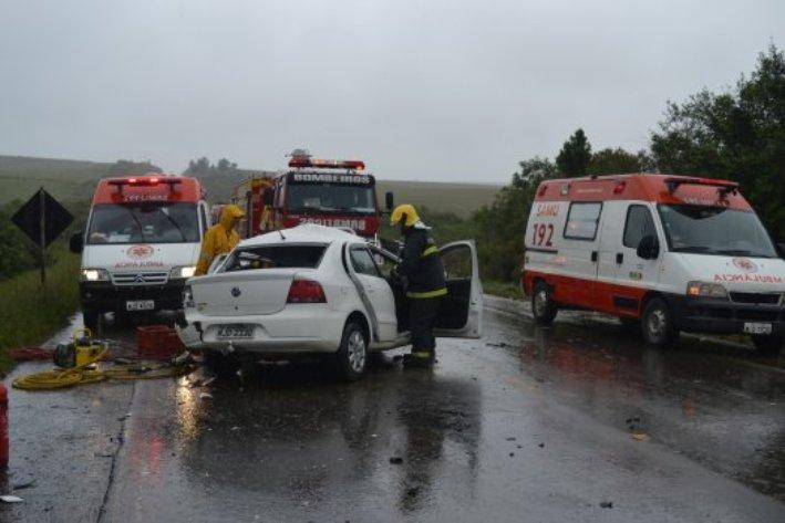 Acidente com duas vitimas fatais em Lages (Foto: Notícia no Ato)