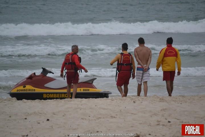 Afogamento praia de Palmas