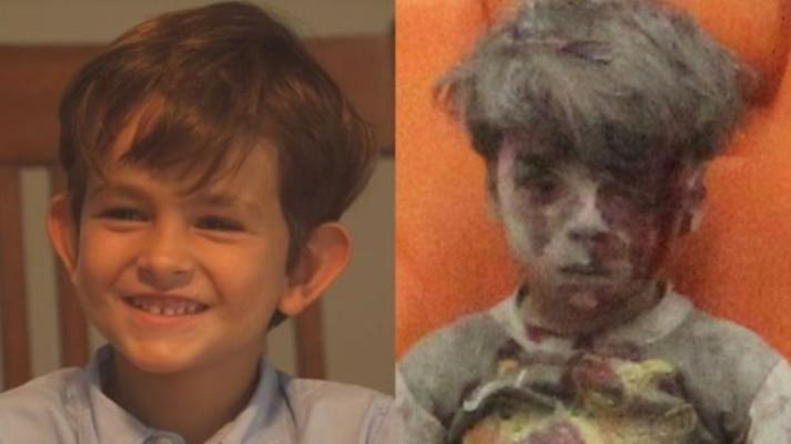 Alex (à esquerda) se comoveu com a história de Omran (Foto: White House/Reuters)