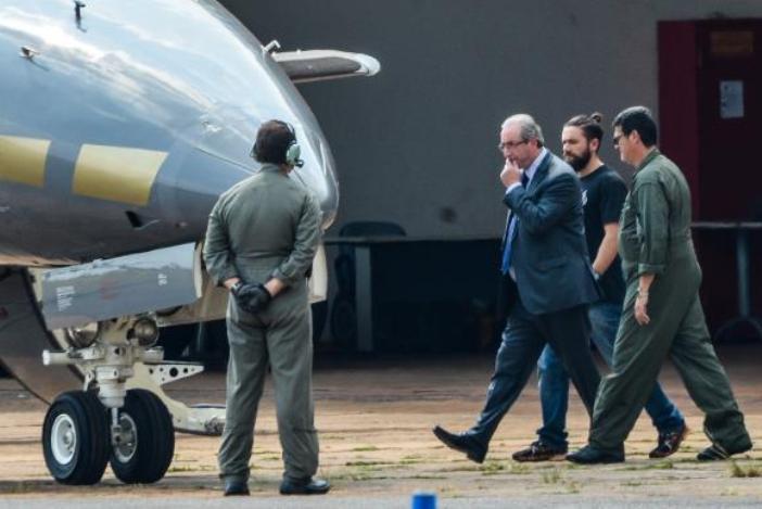 O ex-presidente da Câmara, Eduardo Cunha, foi preso na manhã de hoje pela Polícia Federal em BrasíliaWilson Dias / Agência Brasil