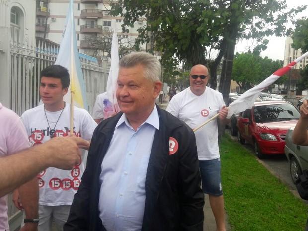 Udo Döhler (PMDB) disputou segundo turno em Joinville (Foto: Kleber Pizzamiglio/RBS TV)