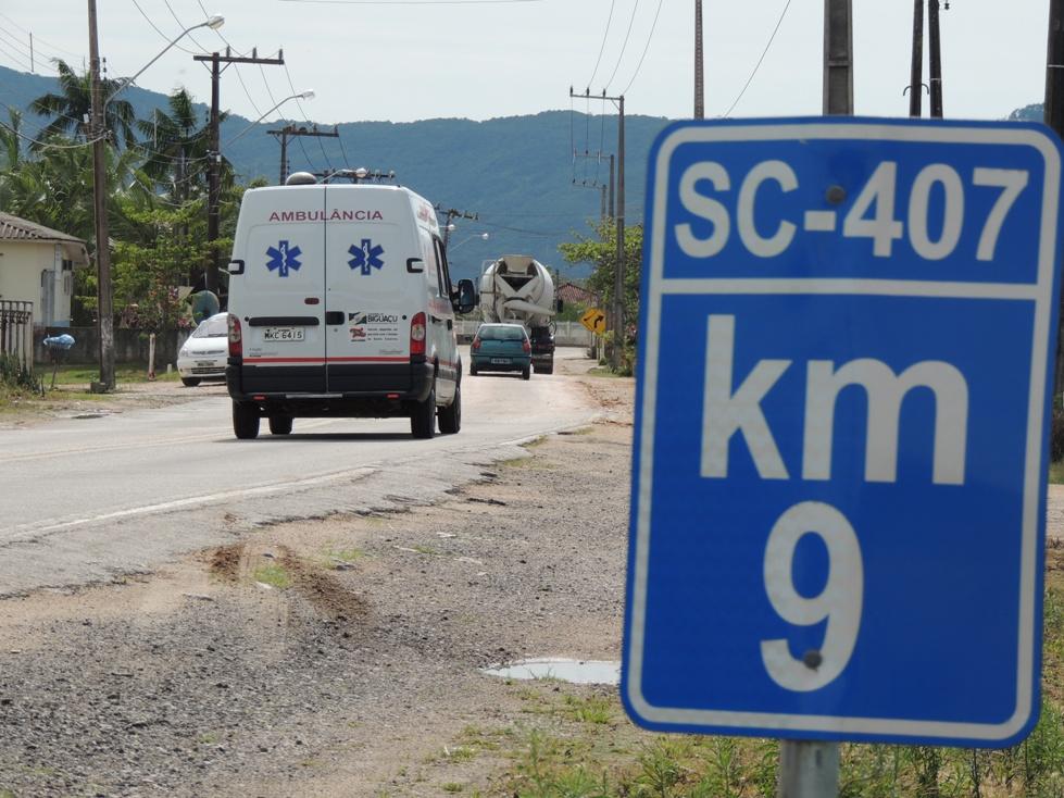 SC-407 já está licitada para ser reformada (Foto: Biguá News)