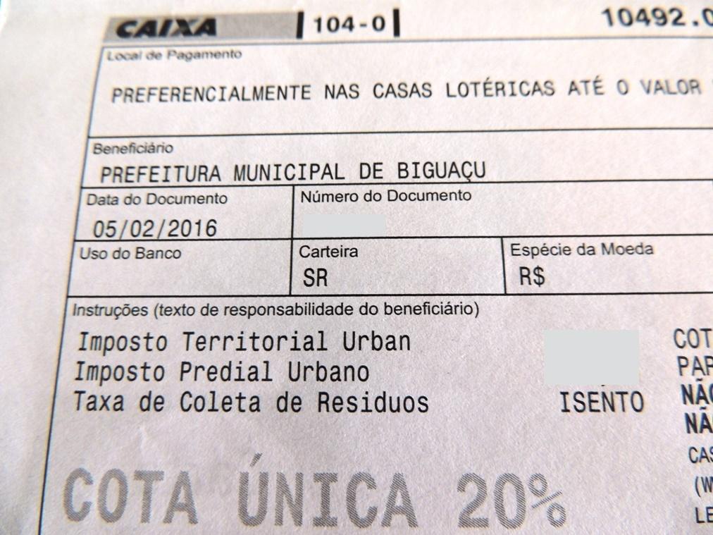 IPTU 2017 virá com 8,5% de reajuste (Imagem ilustrativa - Biguá News)