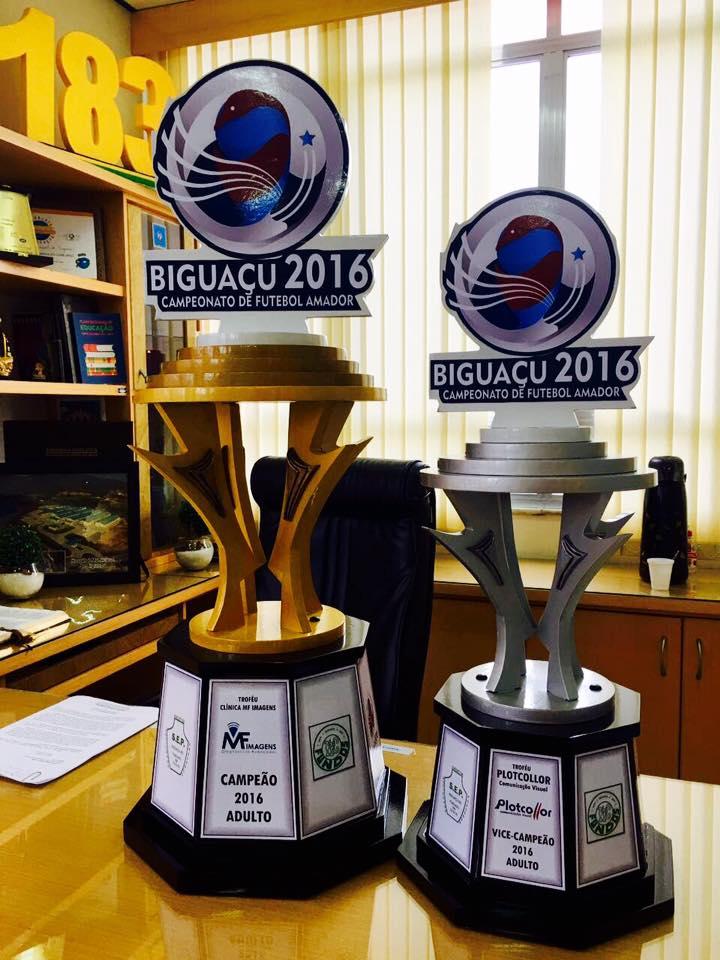 Troféus da Licob 2016 já estão prontos (Foto: Divulgação)