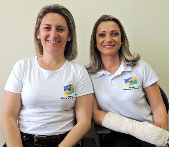 Marceline e Juliane, ex-diretora e ex-supervisora da escola (Foto: Biguá News)