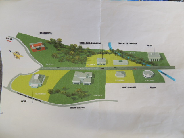 Projeto da Vila de Segurança em Biguaçu (Foto: Biguá News)